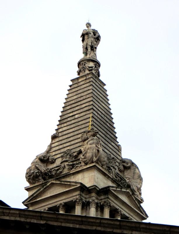 The steeple of St George's Church, Bloomsbury