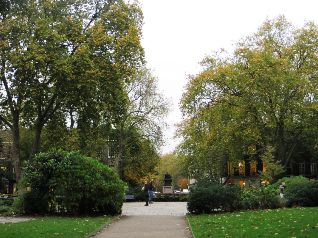 Looing northwards, down Bedford Row, towards Russell Square