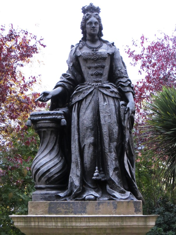 Queen Anne, at the north end of the gardens