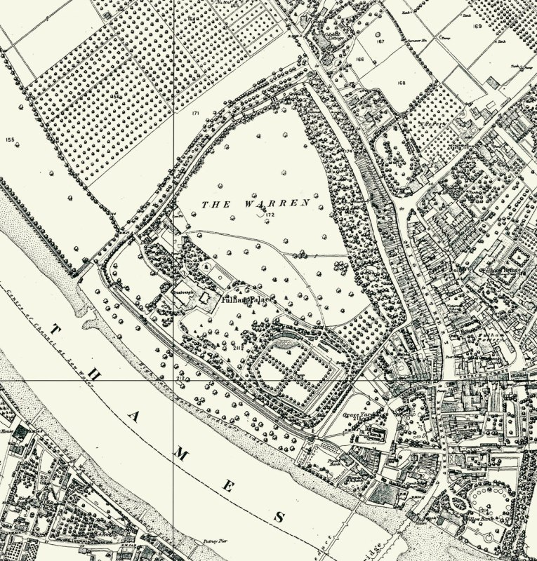 Map of Fulham Palace