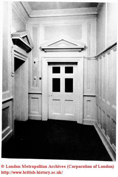 Interior door, no.10 Soho Square in 1965