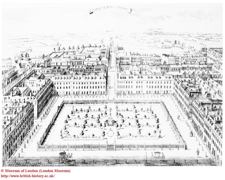 Soho Square, 1727