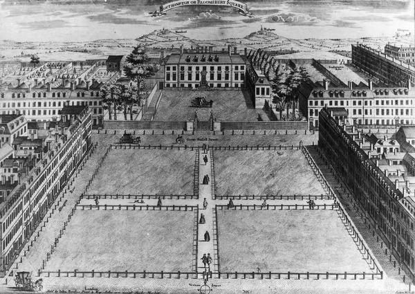 Southampton Square and Southampton House, 1725