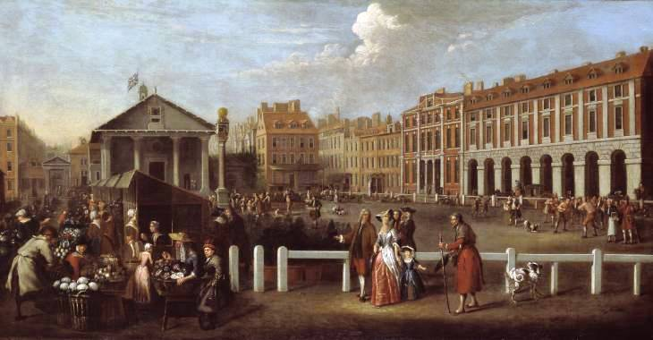 St Paul's Covent Garden in 1737, by B.Nebot