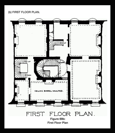 Plans for no.6 Bedford Square (http://www.british-history.ac.uk/survey-london/vol5/pt2/plate-69)