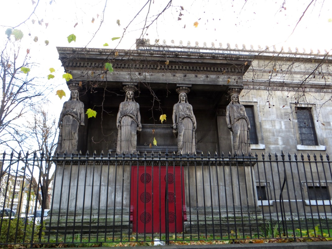 Caryatides, north side of the church