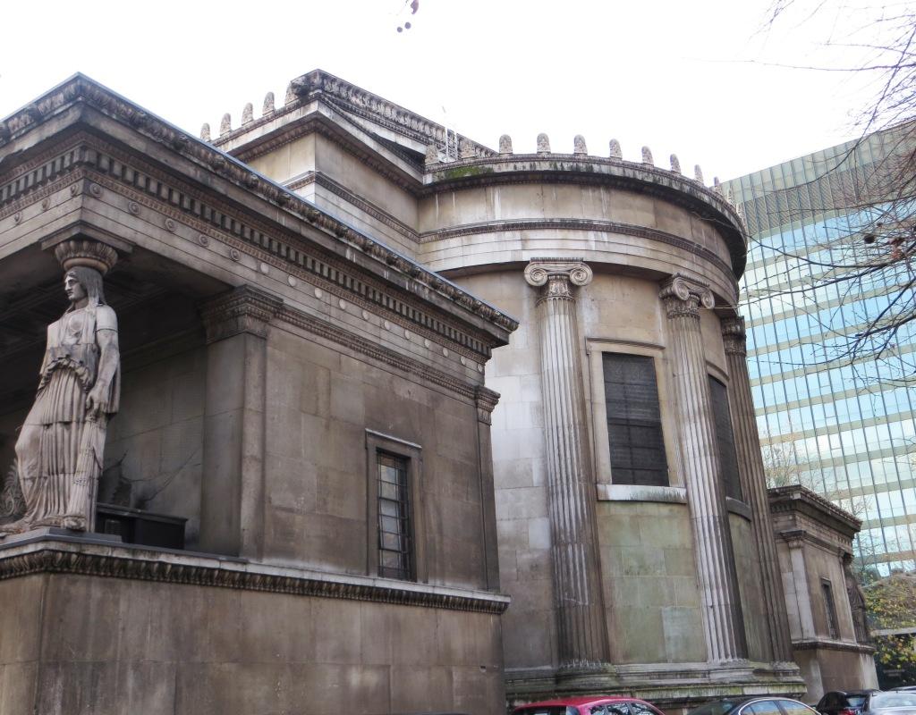 The high altar end of St Pancras New Church