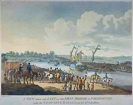 The opening of the Grand Junction Canal, 1801
