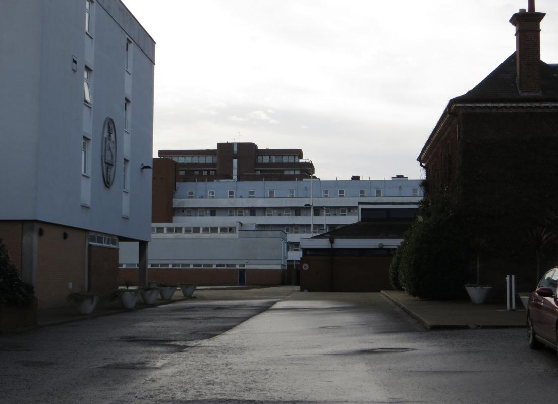 St John's Barracks, inside the gates