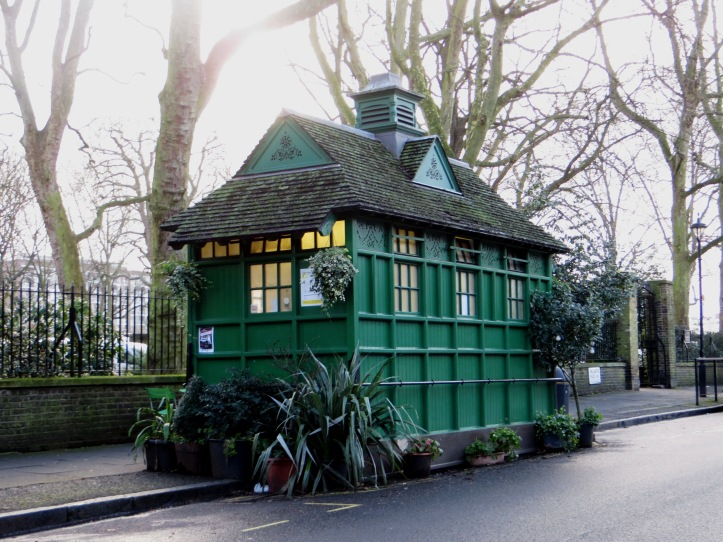 Cabbie's Shelter in Wellington Place, NW8