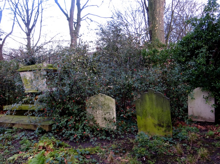 A corner of the burial ground at St John's Chapel, NW8