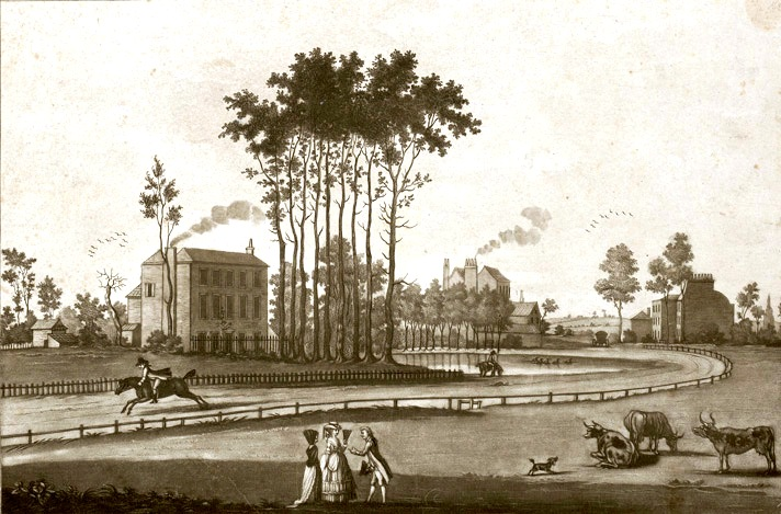 Paddington Green with the Manor House, 1783