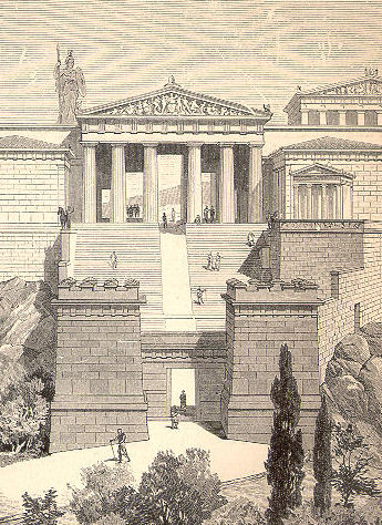 A reconstruction of the Propylaeum in Athens