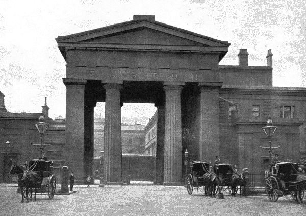 Euston Arch, 1896, (Wikipedia)