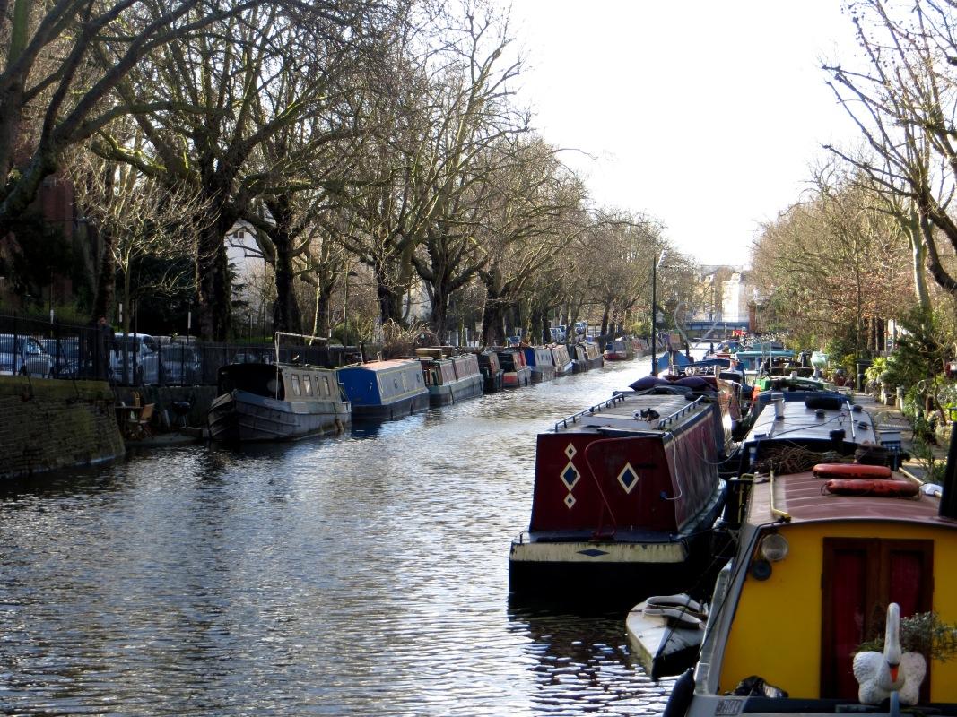 The Regent's Canal alongside Blomfield Road