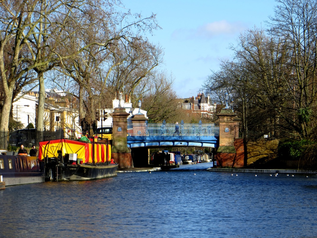 The Regent's Canal entry to the Basin