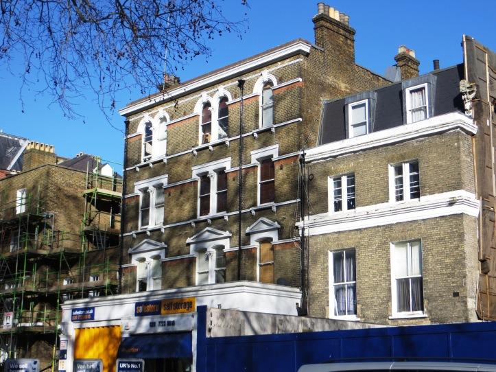 Houses on the east side of Paddington Green