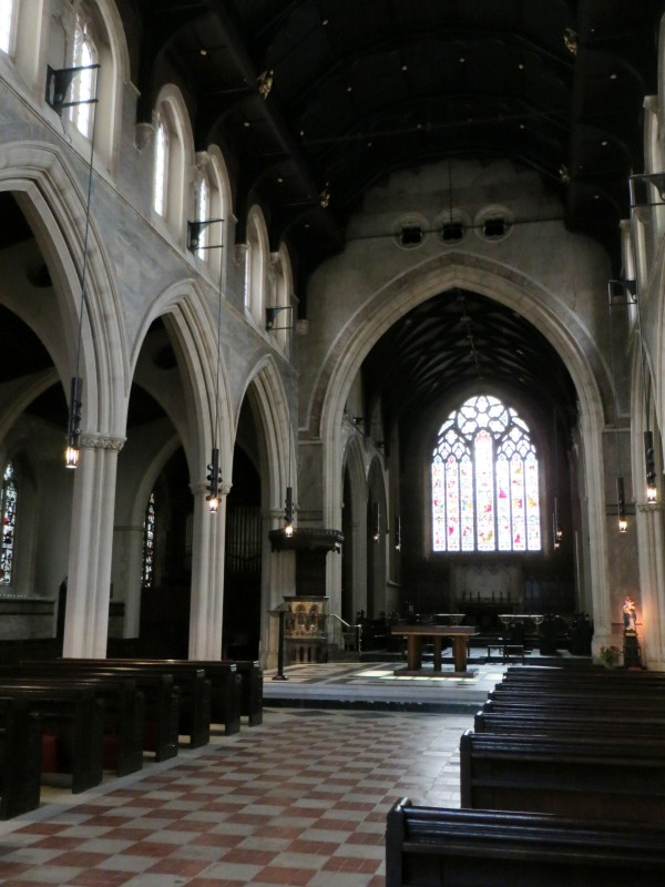 The interior of St James the Less, Paddington