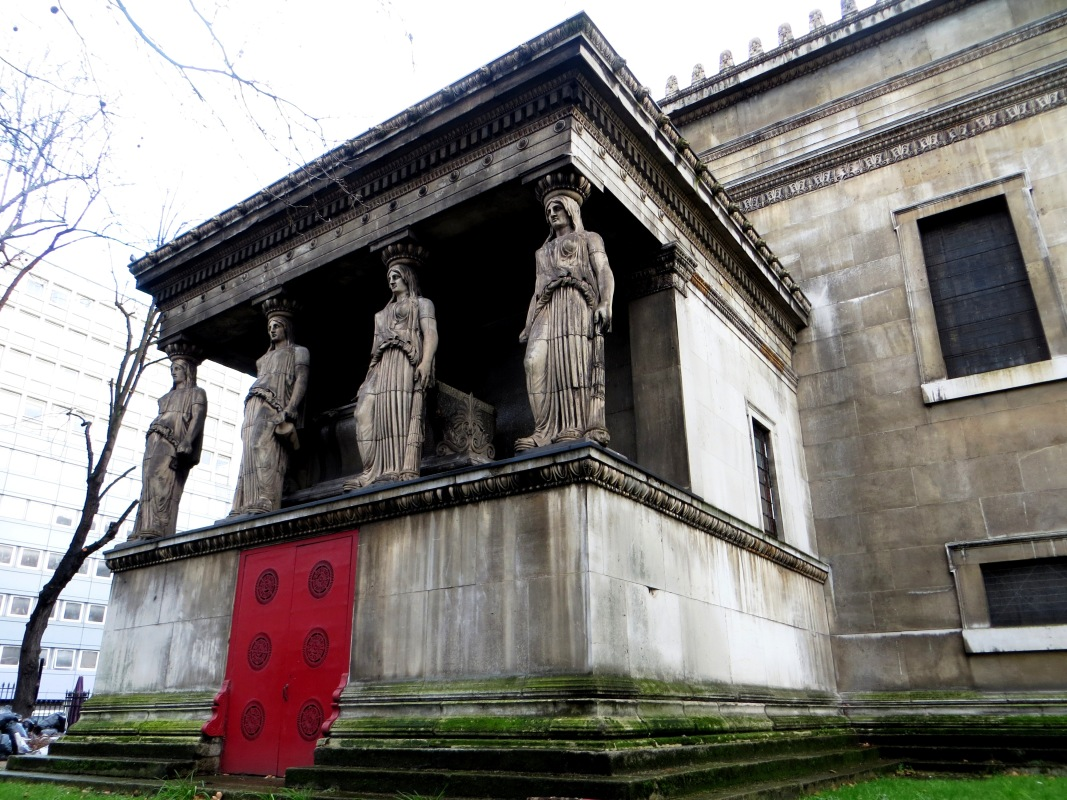 St Pancras New Church, the Caryatids