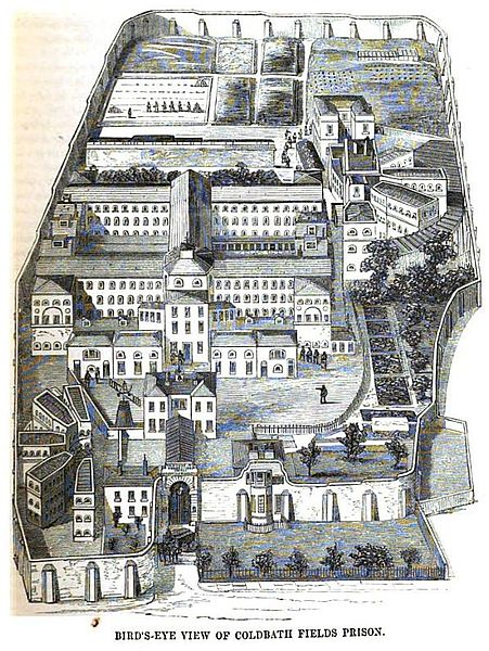 Coldbath Fields Prison, i.e. the Middlesex House of Correction