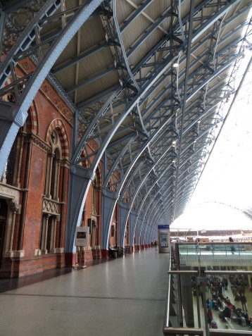 The iron ribs in St Pancras station