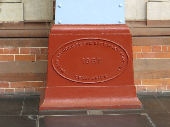 The Butterley Iron Company which made the ribs