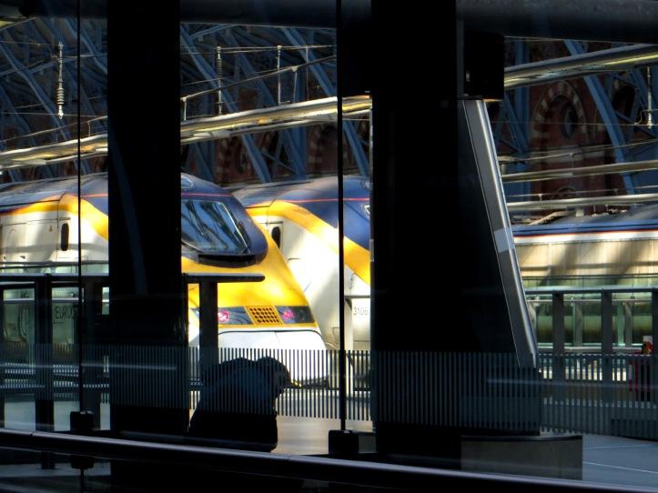 Eurostar trains in St Pancras