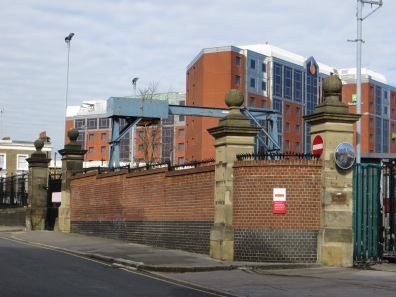 Mount Pleasant sorting office perimeter wall - old prison wall?