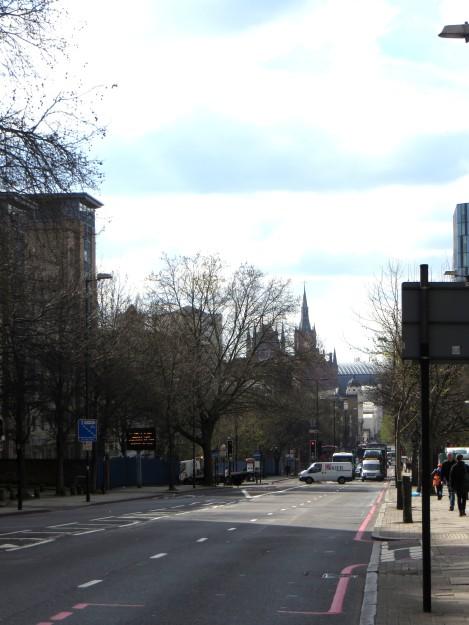 Pentonville Road, looking westwards