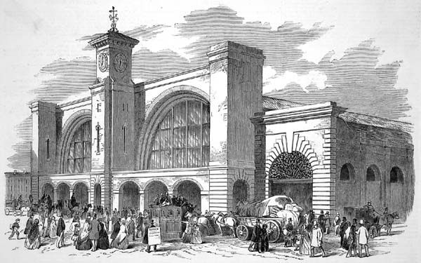 Kings Cross Station, in the Illustrated London News, 1852