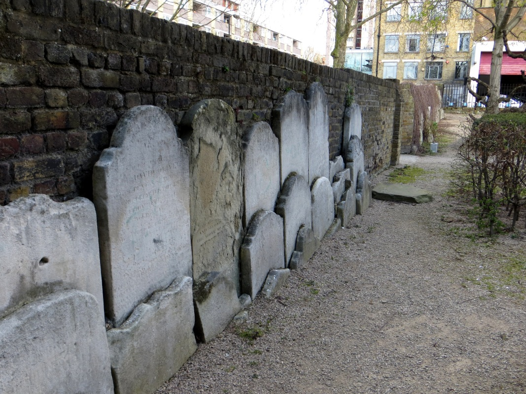 The remains of the graveyard of St James's, Pentonville