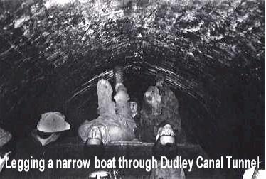 Legging through a canal tunnel