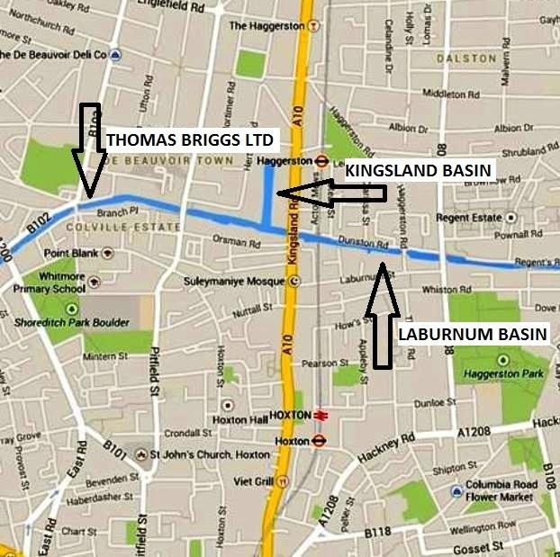 Regents Canal no.3 map