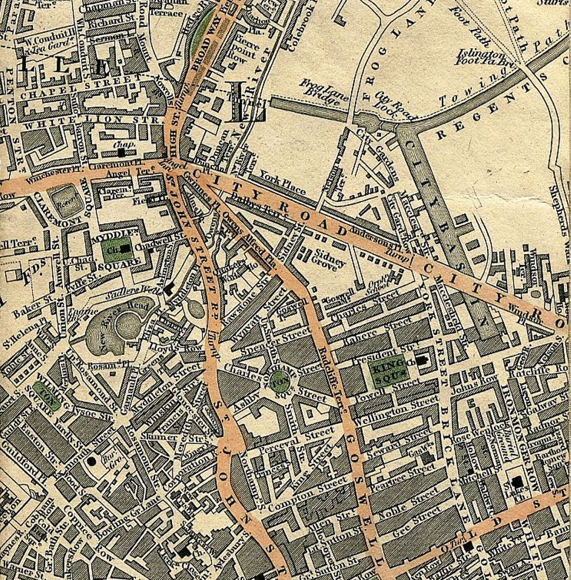 Map of London, 1827 (Mapco)