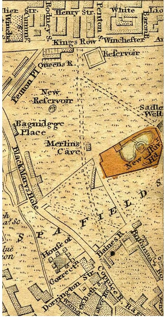 Darton's map of 1814, with Black Mary's Hole