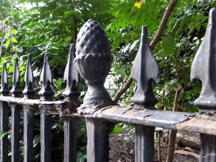 Original railing in Wilmington Square