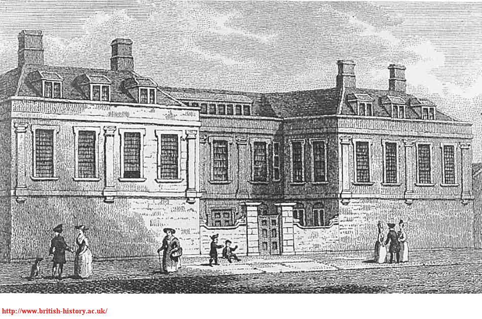 Newcastle House, Clerkenwell Close, c.1790, British History Online