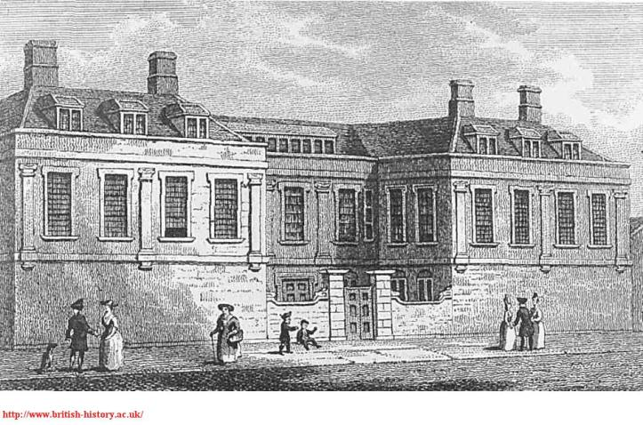 Newcastle House, Clerkenwell Close, c.1790, British History Online