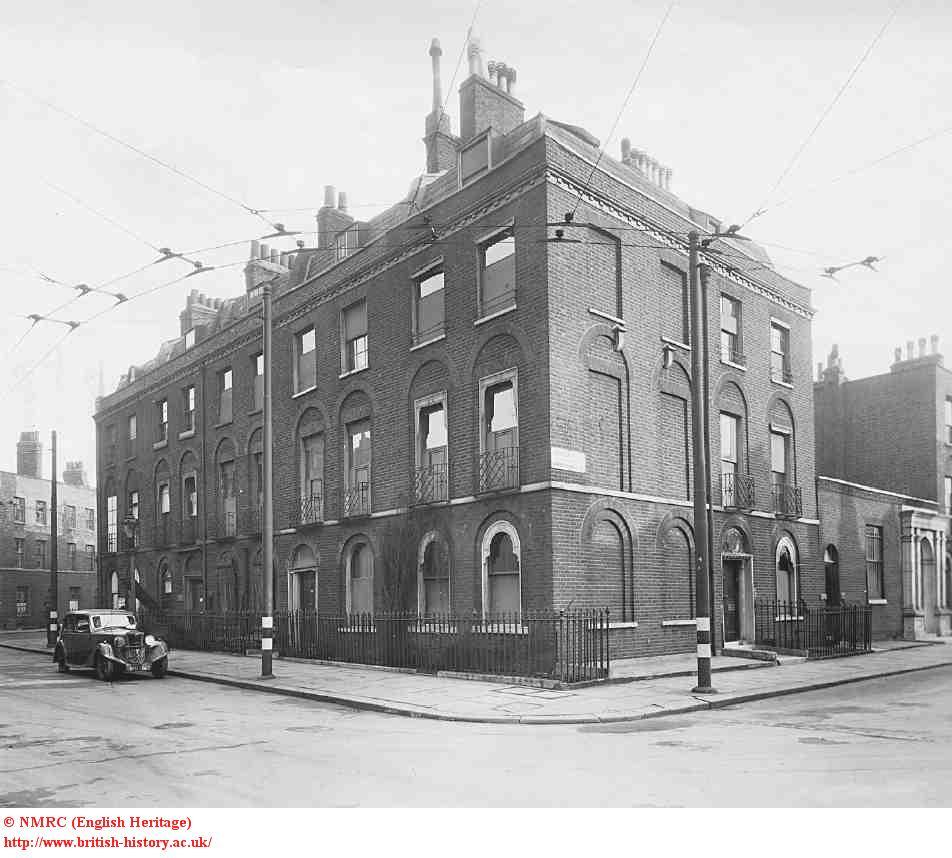 18 Northampton Square & 12 Sebastian Street, 1945