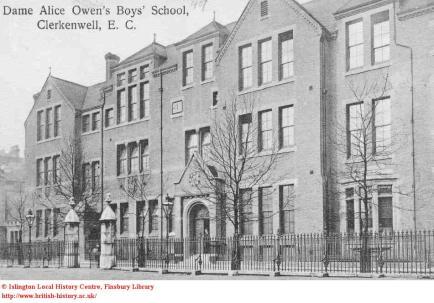Dame Alice Owen's Boys' School, British History online