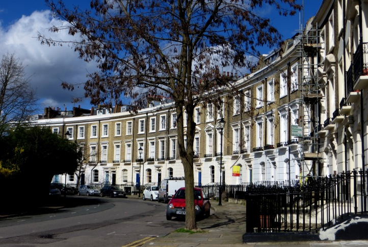 Thornhill Crescent on the north side of the square