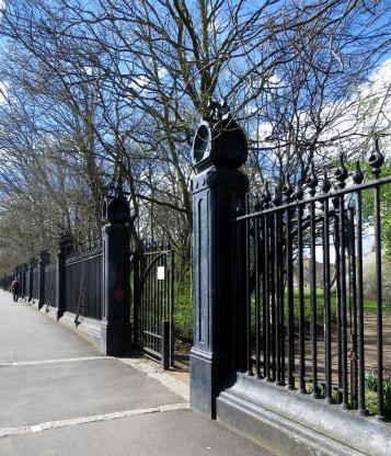 Railings on the boundary of the Caledonian Market