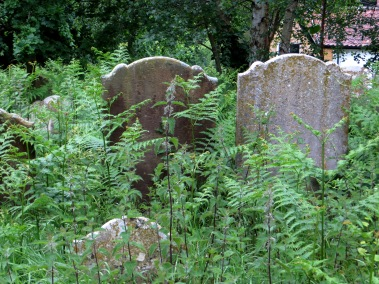 In the churchyard of St Peter, Theberton