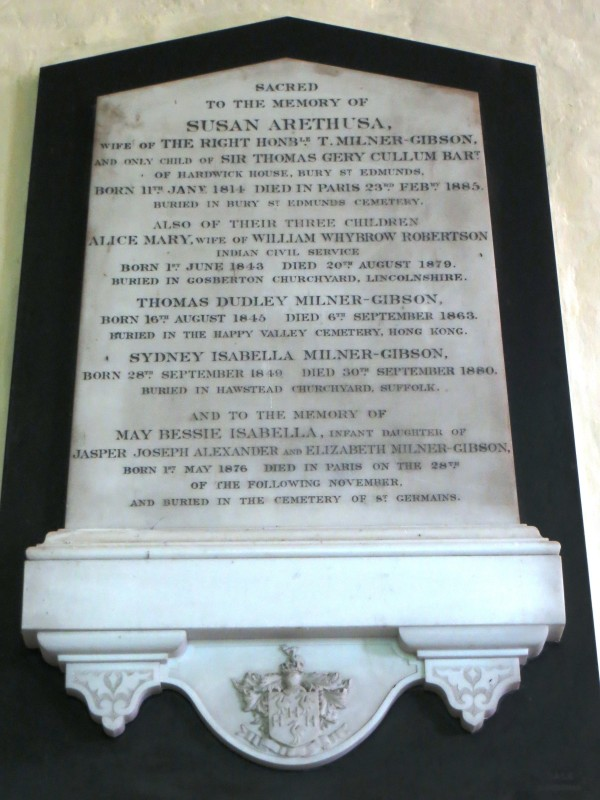 Family memorial inside the Church of St Peter, Theberton