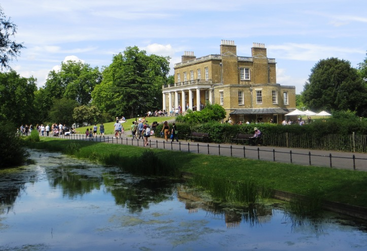 Clissold House with the New River below