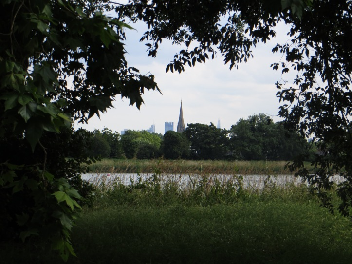 View towards the City over the east reservoir