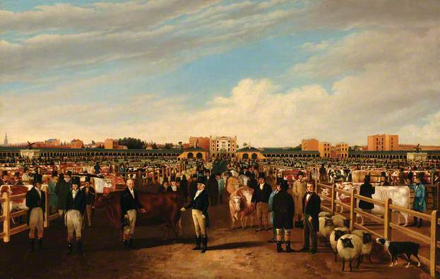 Metropolitan Cattle Market, William Henry Davis, 1855, Guildhall Library