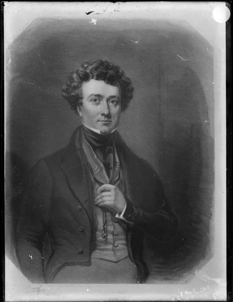 Thomas Milner Gibson, 1843, portrait in Hardwick House