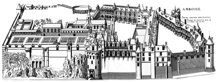 The Chateau of Amboise at the time of Charles VII, late 1400s