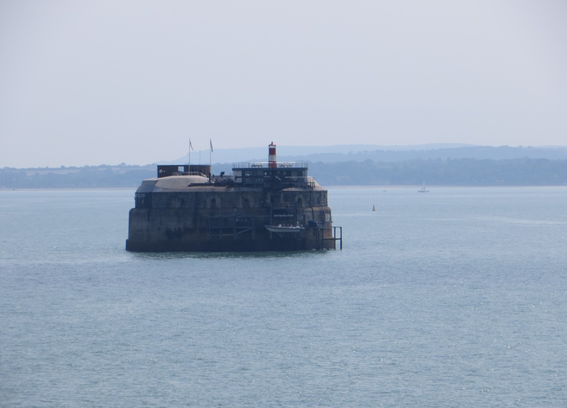 In the Channel & passing the Isle of Wight